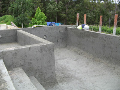 Concrete swimming pool construction process for Concrete swimming pool construction