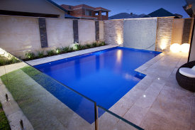 Luxury concrete swimming pool